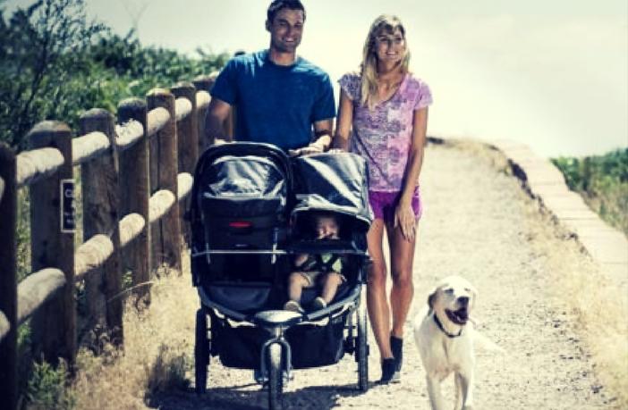 A double jogger can strengthen family bonding